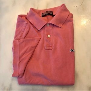 VineyardVines Classic Polo T- Coral Great shape
